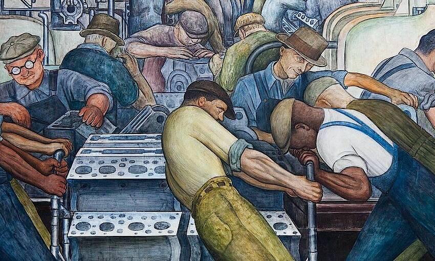 "Diego Rivera ""Battle of Detroit"""