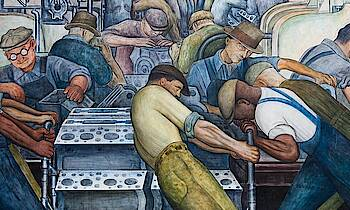 "Diego Rivera ""Battle of Detroit"""